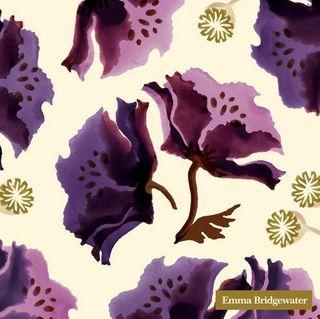 IHR Luncheon Purple Poppies Cream Emma Bridgewater