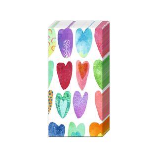 IHR Tissue Rainbow Hearts