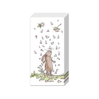 IHR Tissue Blossoms & Bunnies White