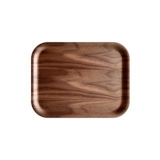 Atiya Rectangle Wooden Tray Walnut 36x28cm