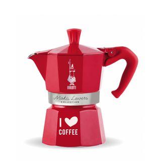 Bialetti Moka Express 6 Cup Red I Love Coffee