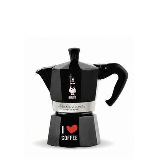 Bialetti Moka Express 3 Cup Black I Love Coffee