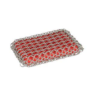 Lodge Chain Mail Scrubbing Pad Red