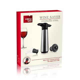 Vacu Vin Wine Saver Pump & 2 Stopper & 2 Server, Stainless Steel