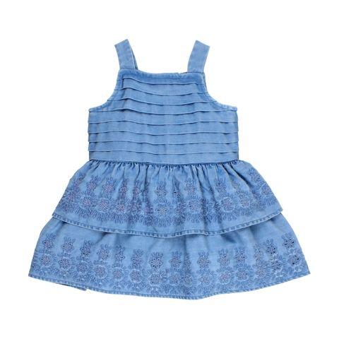 Baby Girls Bebe Leah Chambray Dress