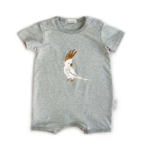 Beanstork Baby Cockatoo Jersey Romper