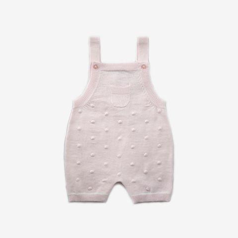 Beanstork Baby Girls Pink Bobble Romper