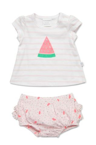 Marquise Baby Girls S/Sleeve Top and Bloomer Pink Print