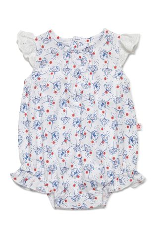 Marquise Baby Girls Romper With Frilled Sleeves