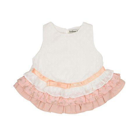Arthur Avenue Baby Girls Pink Layered Top