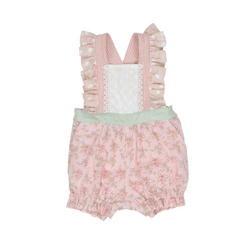 Arthur Avenue Baby Girls Lacey Short Playsuit