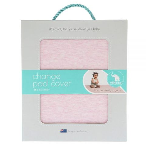 All 4 Ella Change Pad Cover Marle Pink