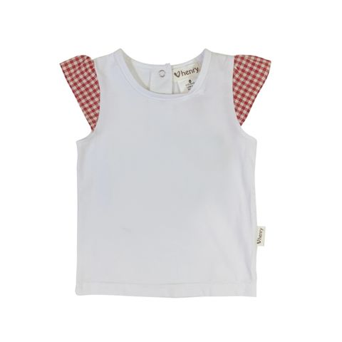 Love Henry Baby Girls Print Sleeve Top
