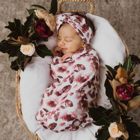 Snuggle Hunny Kids Fleur Swaddle & Topknot Set