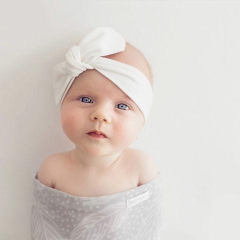 Snuggle Hunny Kids Classic White Topknot Headband