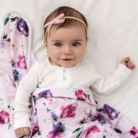 Snuggle Hunny Kids Rose Pink Velvet Bow