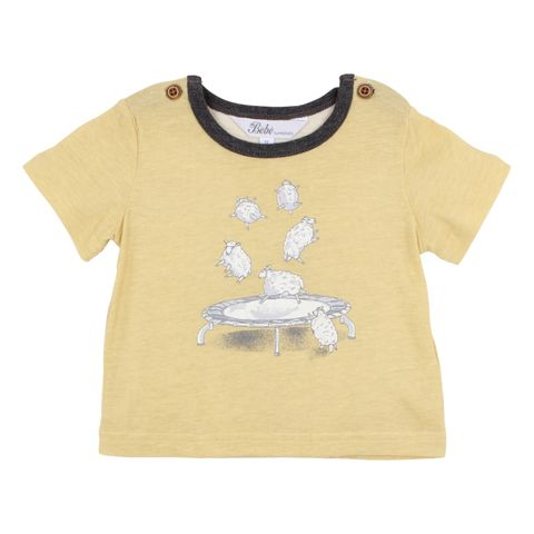 Bebe Baby Boys Henry Jumping Sheep Tee