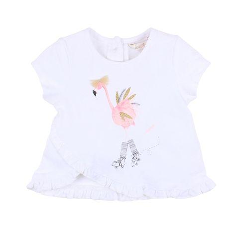 Fox N Finch Baby Girls Frolic Flamingo Tee