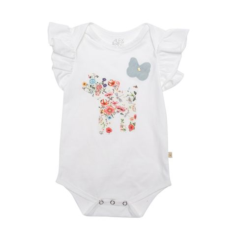 Alex & Ant Baby Girls Bambini Romper White