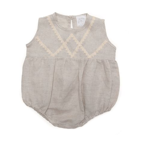 Alex & Ant Baby Girls Evelyn Playsuit Natural