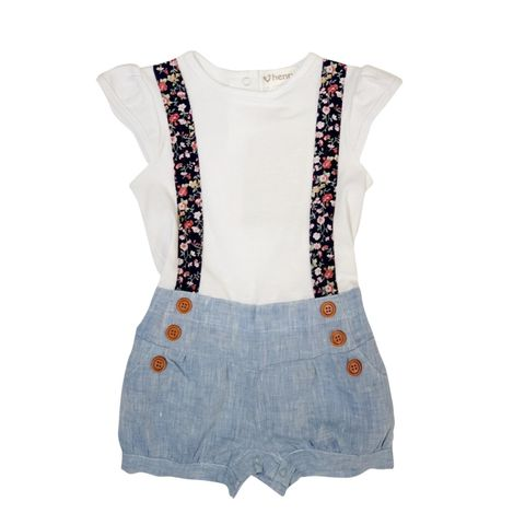 Love Henry Baby Girls Lola Playsuit Paris Picnic