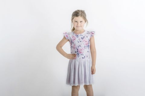 Little Hearts Blush Rose Luxe Frill Tutu Dress