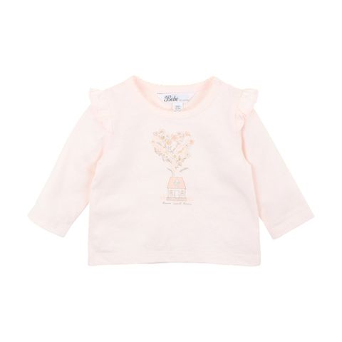 Bebe Penny Home Tee Barely Pink