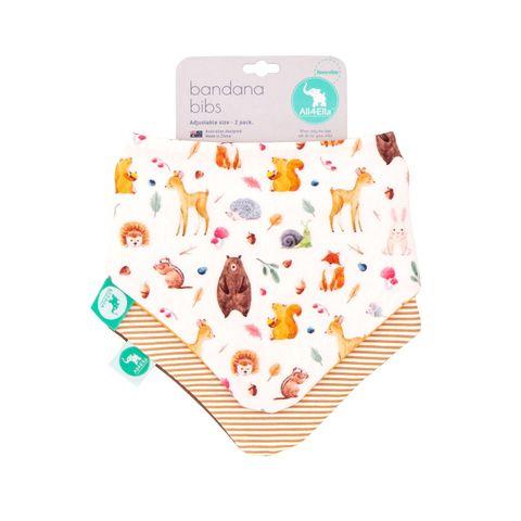 All 4 Ella Forest Reversible Bandana Bibs 2 Pack