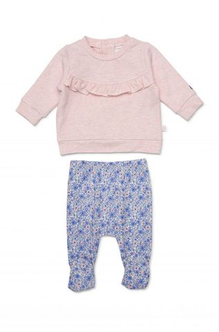 Marquise Frilled Sweatshirt & Periwinkle Footed Legging