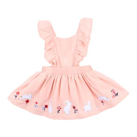 Fox & Finch Pinafore Dress Dusty Pink