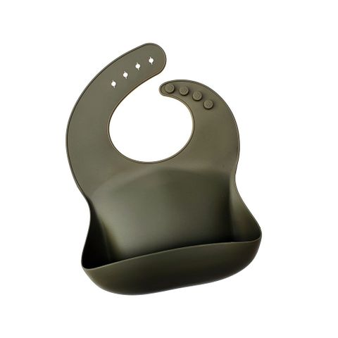 Dove and Dovelet Silicone Bib Olive