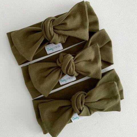 Cheeky Little Fox Olive Bow Knot Headband
