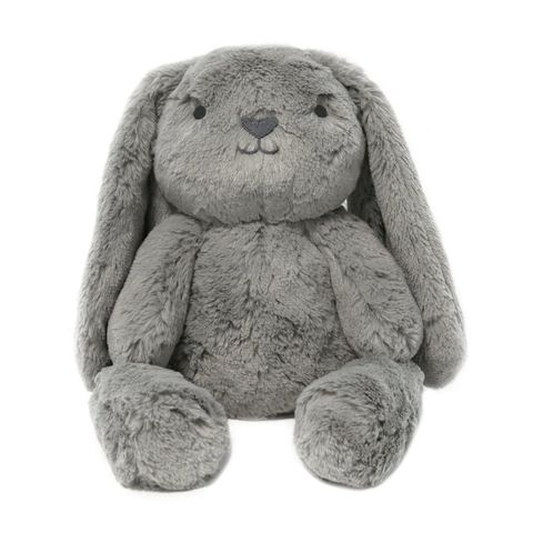 OB Designs Grey Bodhi Bunny Huggie Stuffed Animal