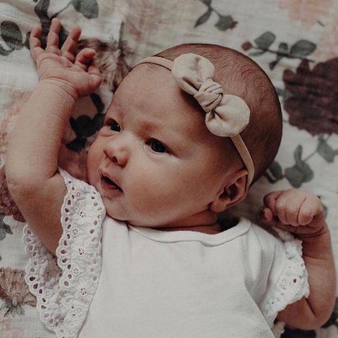 Mae & Rae Wren Almond Bow Headband