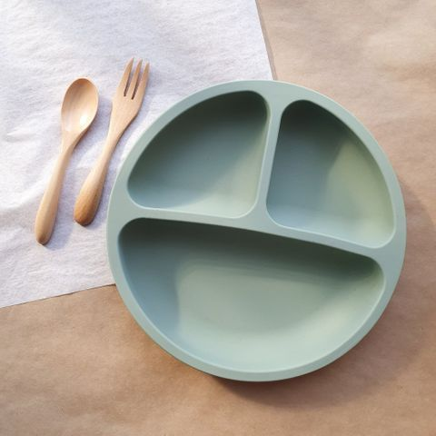 Dove and Dovelet Sage Silicone Divided Plate