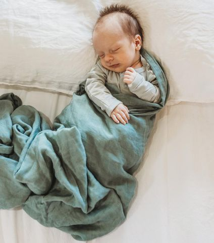 Halo & Horns Bamboo Muslin Baby Wrap Forrest