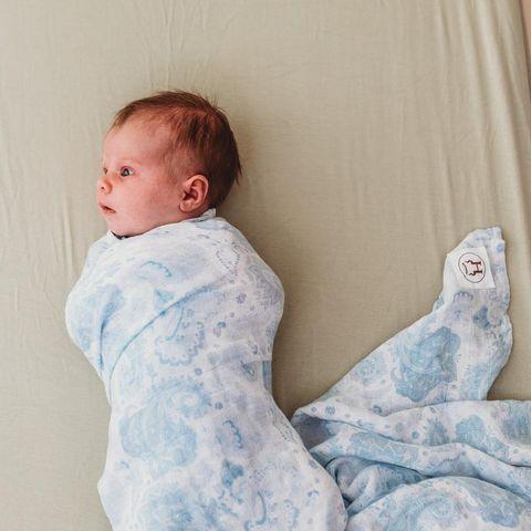 Halo & Horns Bamboo Muslin Baby Wrap Paisley Dreamer