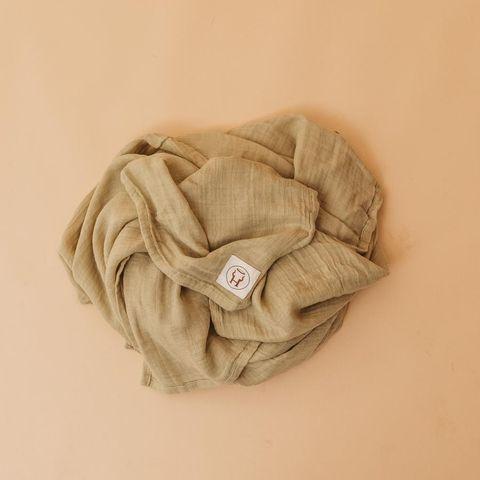 Halo & Horns Bamboo Muslin Baby Wrap Sage