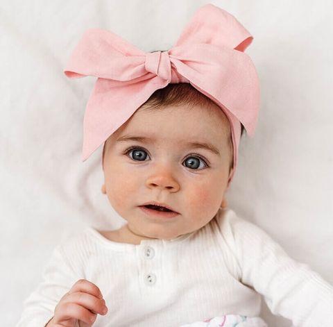 Snuggle Hunny Kids Baby Pink Pre Tied Headband