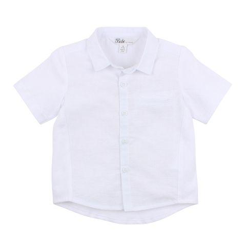 Bebe Harry Linen Jersey Shirt White