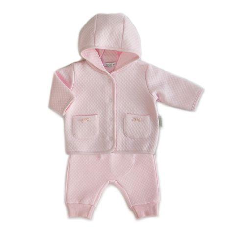 Beanstork Quilted Bell Jacket & Pant Set Pink