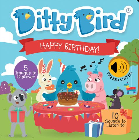 Ditty Bird Happy Birthday Book