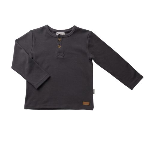 Love Henry Henley Tee Charcoal