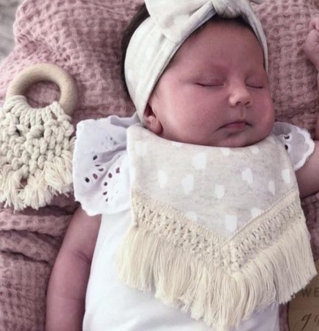 Crybaby Boutique Organic Cotton Boho Bib Aspen