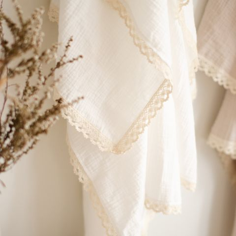 Blossom & Pear Milk Lace Luxury Swaddle