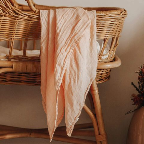 Blossom & Pear Blush Bamboo Swaddle