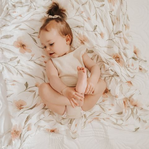 Blossom & Pear Blossom Bamboo Swaddle