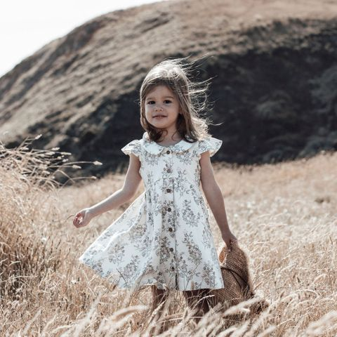 Aster & Oak Summer Floral Button Dress