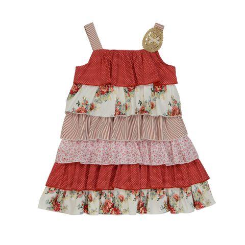 Arthur Avenue Red Layered Dress