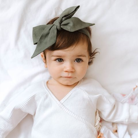 Snuggle Hunny Kids Dusty Olive Pre Tied Headband